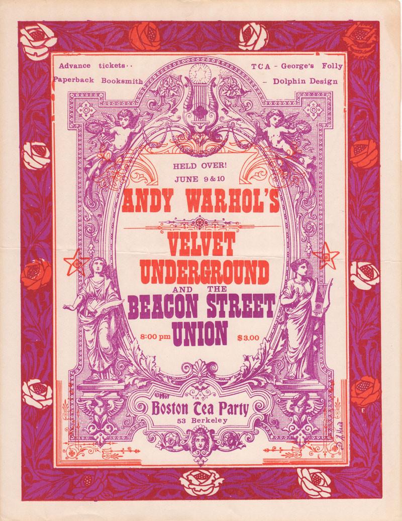 Boston Tea Party Poster Ideas  Velvet Underground Posters Boston Tea Party – Boston MA