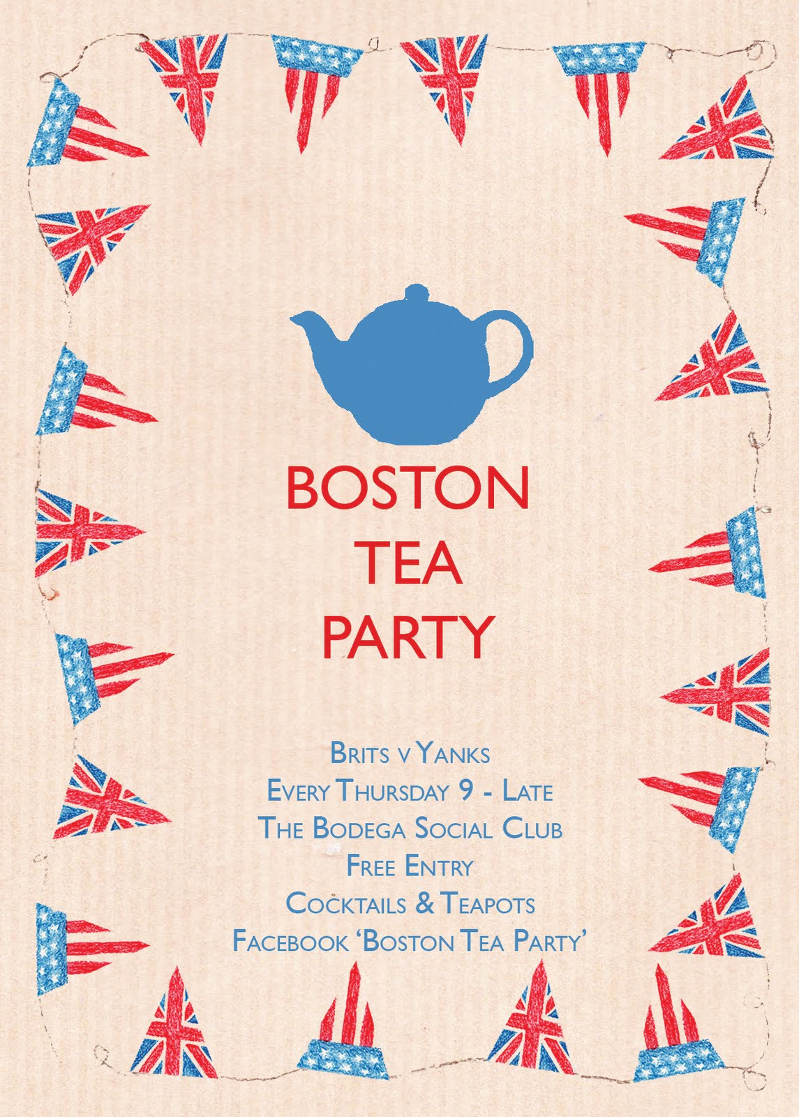 Boston Tea Party Poster Ideas  Georgina Lomas
