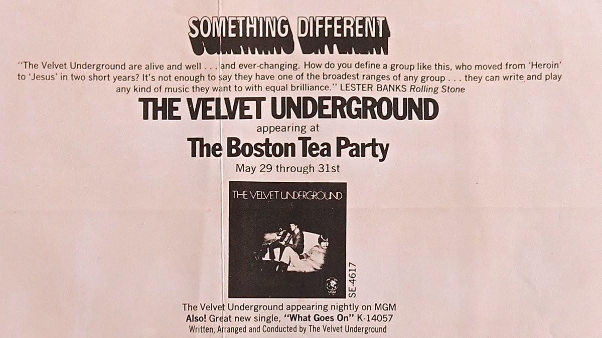 Boston Tea Party Poster Ideas  Velvet Underground – Unique Boston Tea Party 1969 Poster