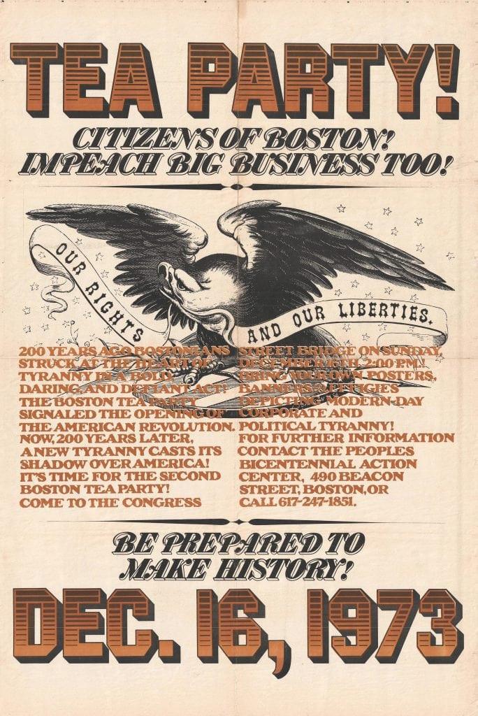 Boston Tea Party Poster Ideas  Vivid poster announcing the Boston Oil Party of Dec 16