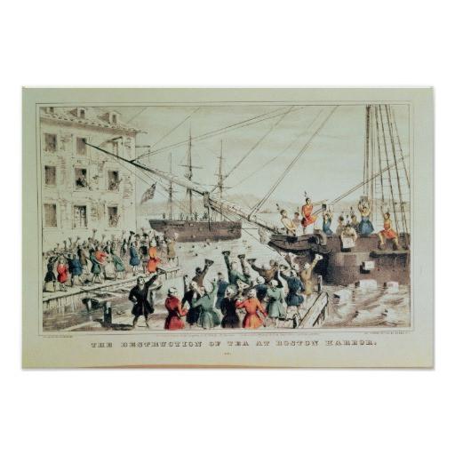Boston Tea Party Poster Ideas  The Boston Tea Party 1846 Poster