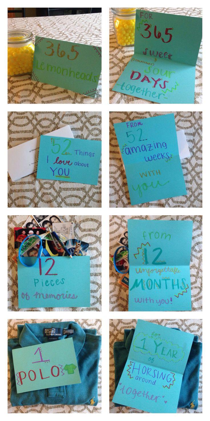 Boyfriend Gift Ideas Pinterest  e year anniversary with my boyfriend t
