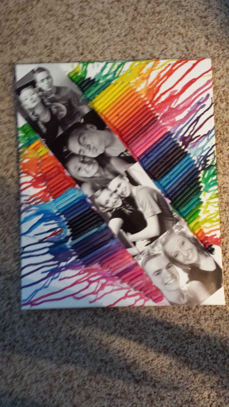 Boyfriend Gift Ideas Pinterest  Boyfriend t crayon canvas Trisha Grendys want to try