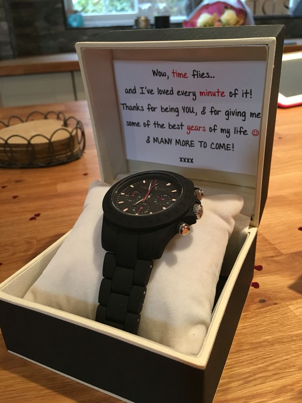 Boyfriend Gift Ideas Pinterest  3 year anniversary t for my boyfriend of 3 years Watch