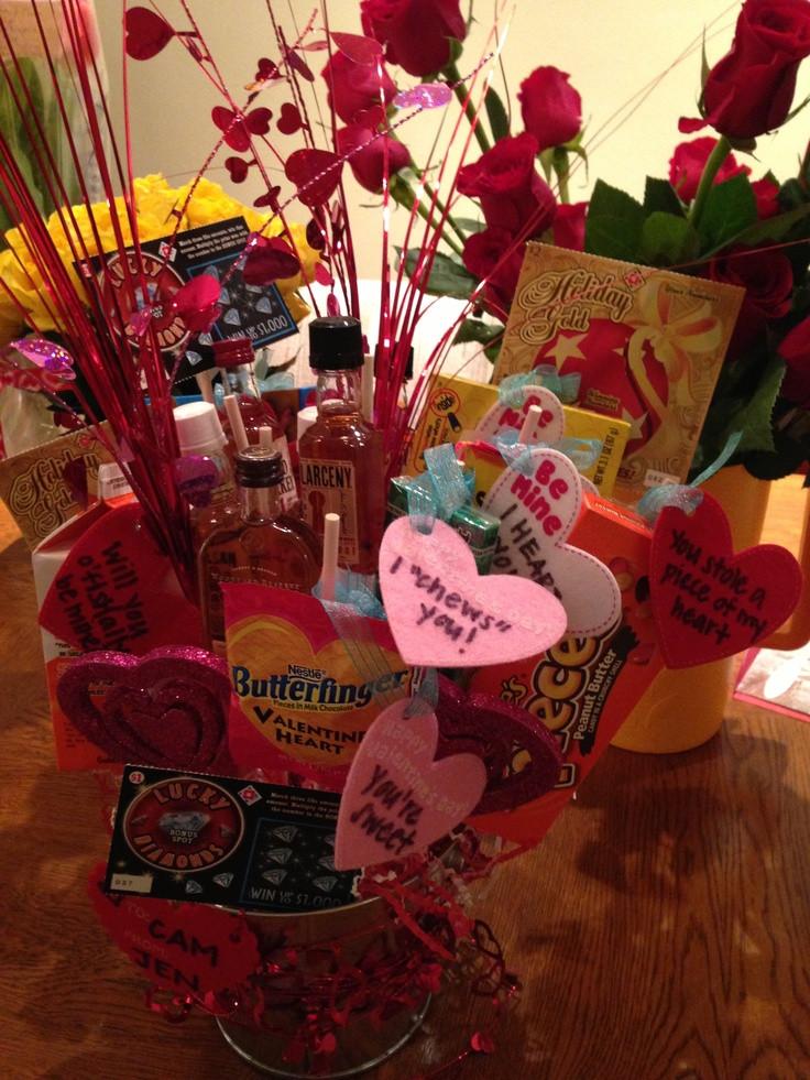 Boyfriend Valentine Gift Ideas  Cute Valentines day t for boyfriend a man bouquet