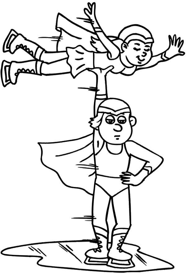 Boys Skating In Winter Coloring Pages  17 Best images about Ice Skating on Pinterest