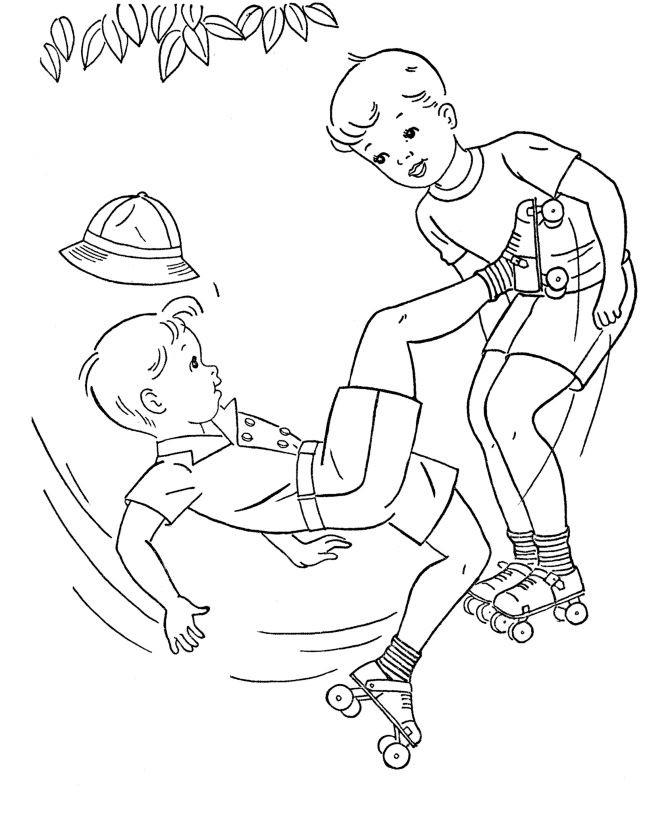 Boys Skating In Winter Coloring Pages  319 beste afbeeldingen over Leuke dingen kids op Pinterest