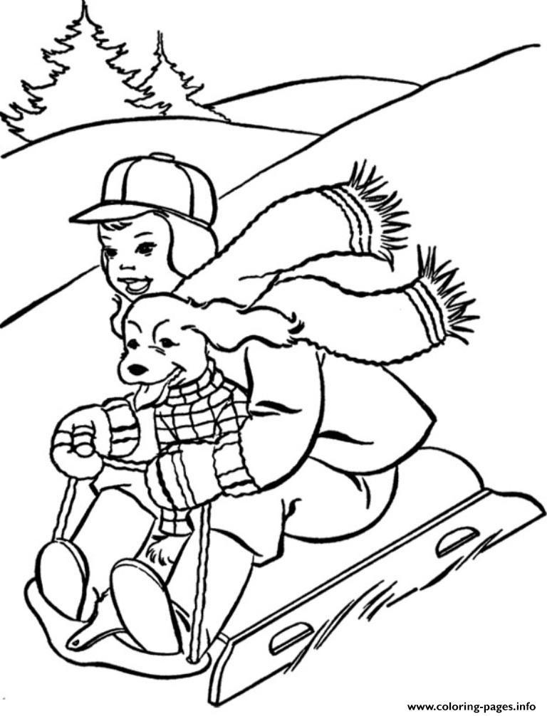 Boys Skating In Winter Coloring Pages  Skating Winter S Printables99d6 Coloring Pages Printable