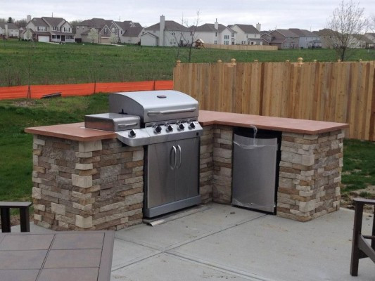 Build An Outdoor Kitchen  Redditor lukeyboy767 builds a low cost outdoor kitchen