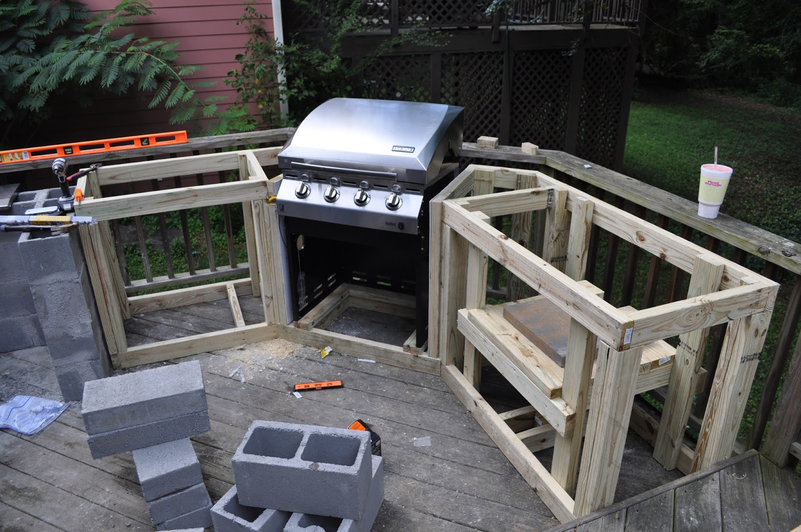 Build An Outdoor Kitchen  The Cow Spot Outdoor Kitchen Part 1