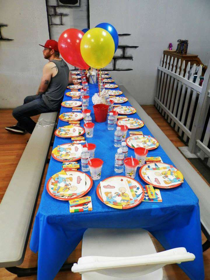 Caillou Birthday Decorations  Caillou Birthday Party Ideas 6 of 13
