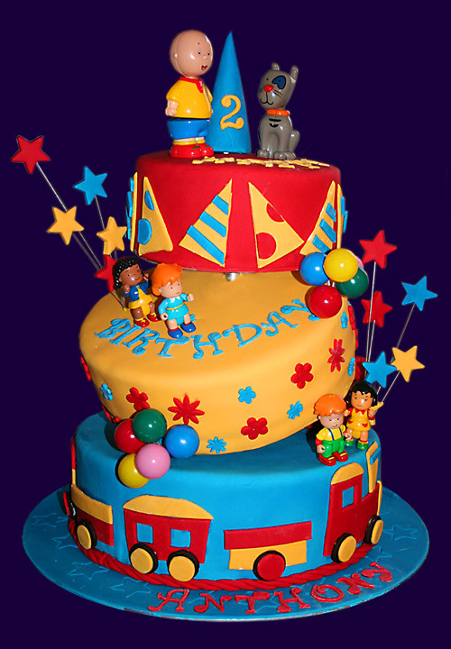 Caillou Birthday Decorations  Caillou Cake
