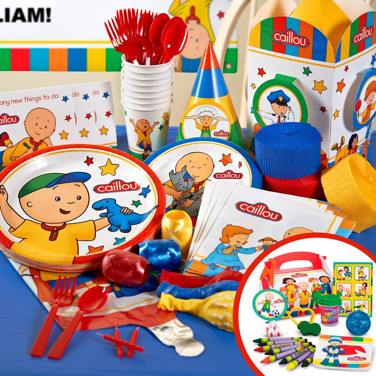 Caillou Birthday Decorations  Caillou Birthday Party Supplies