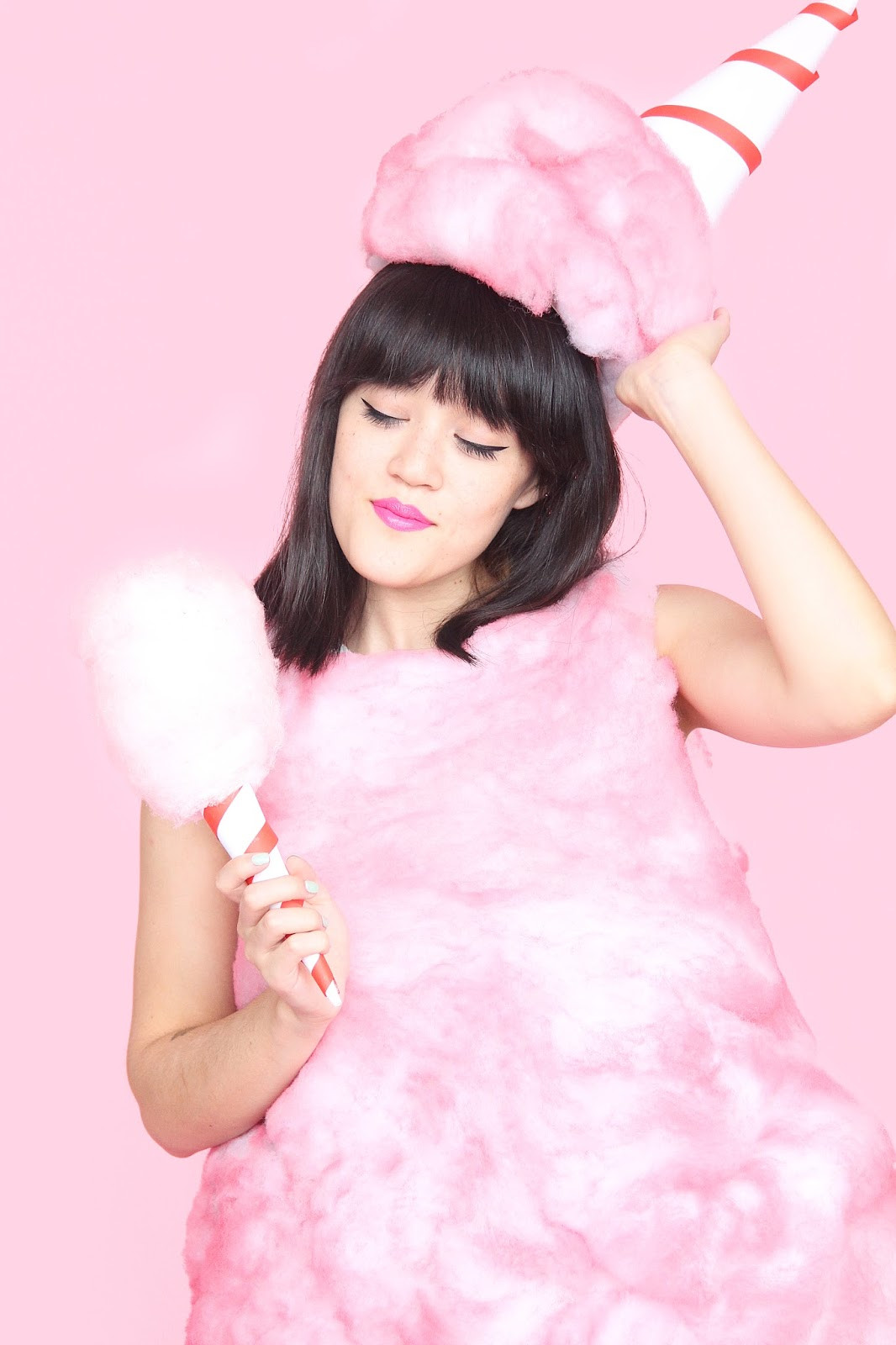Candy Costumes DIY  DIY Cotton Candy Halloween Costume