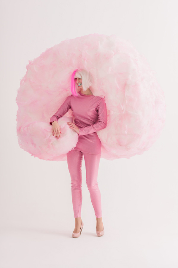 Candy Costumes DIY  Cotton Candy Halloween costume • A Subtle Revelry