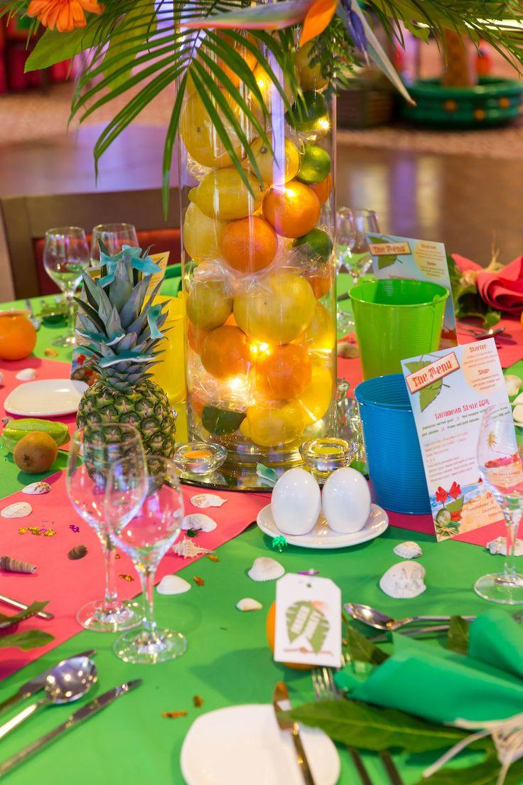 Caribbean Themed Backyard Party Ideas  Caribbean Tropical Beach Party table displays