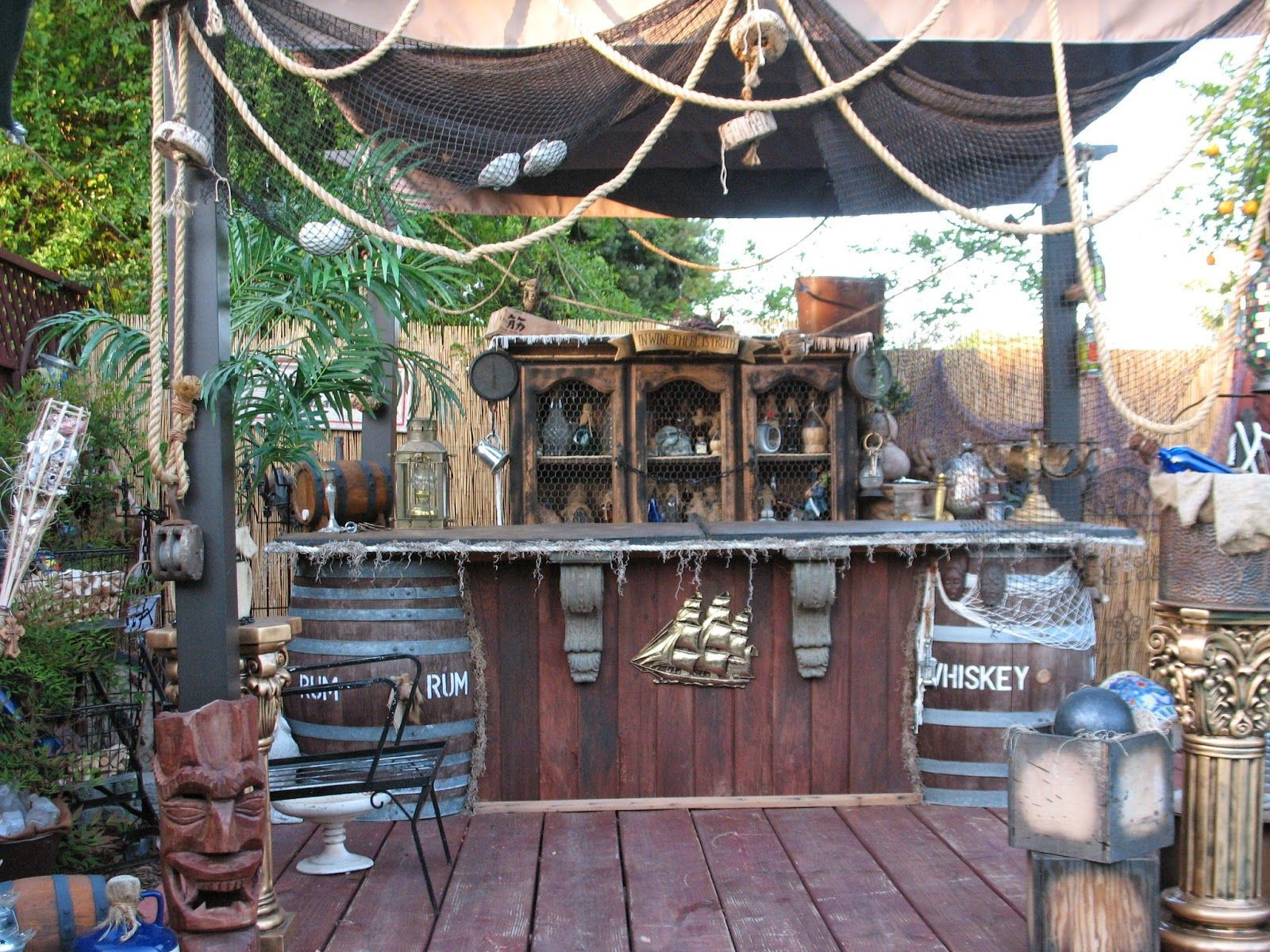 Caribbean Themed Backyard Party Ideas  Belly up to the pirate bar Pirate Back Yard
