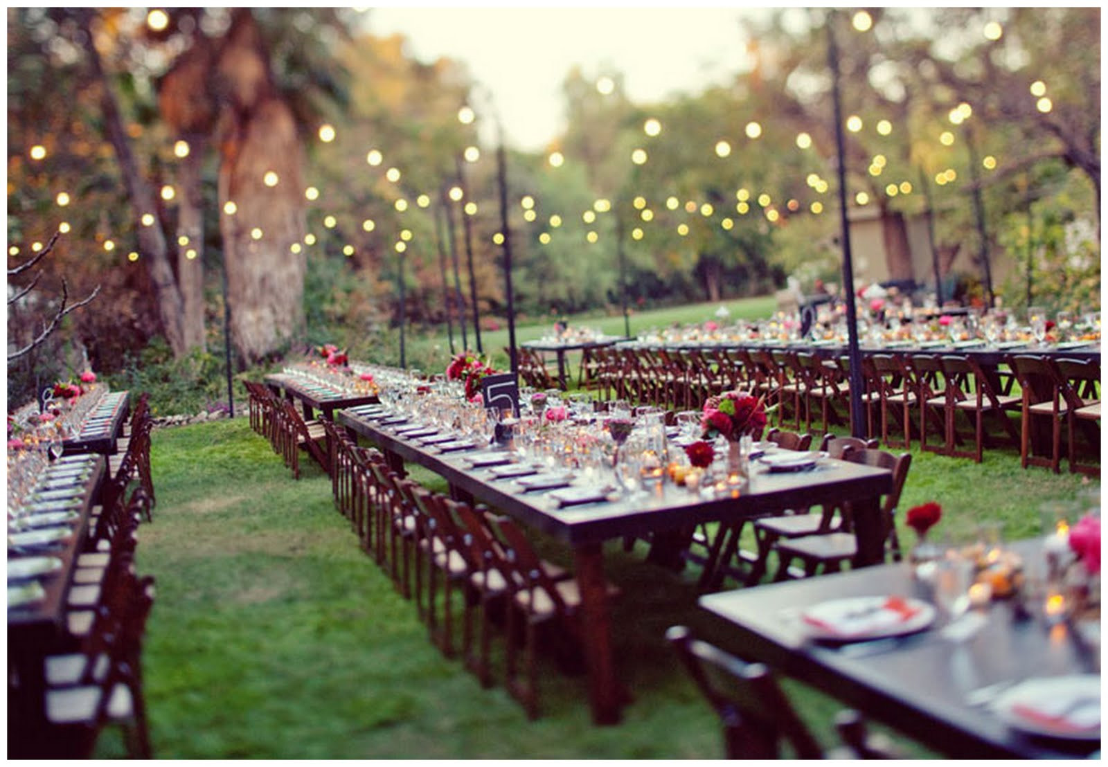 Catering Ideas For Backyard Party  Real Enchanted Garden Wedding Kelly & Steve