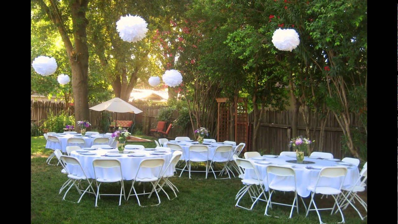 Catering Ideas For Backyard Party  Backyard wedding reception ideas