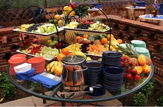 Catering Ideas For Backyard Party  A great way to set up a backyard buffet for an informal