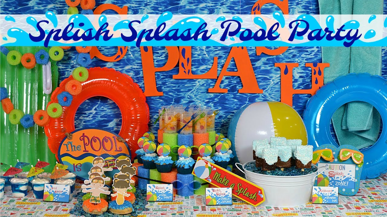 Cheap Pool Party Ideas  Splish Splash Pool Party Ideas