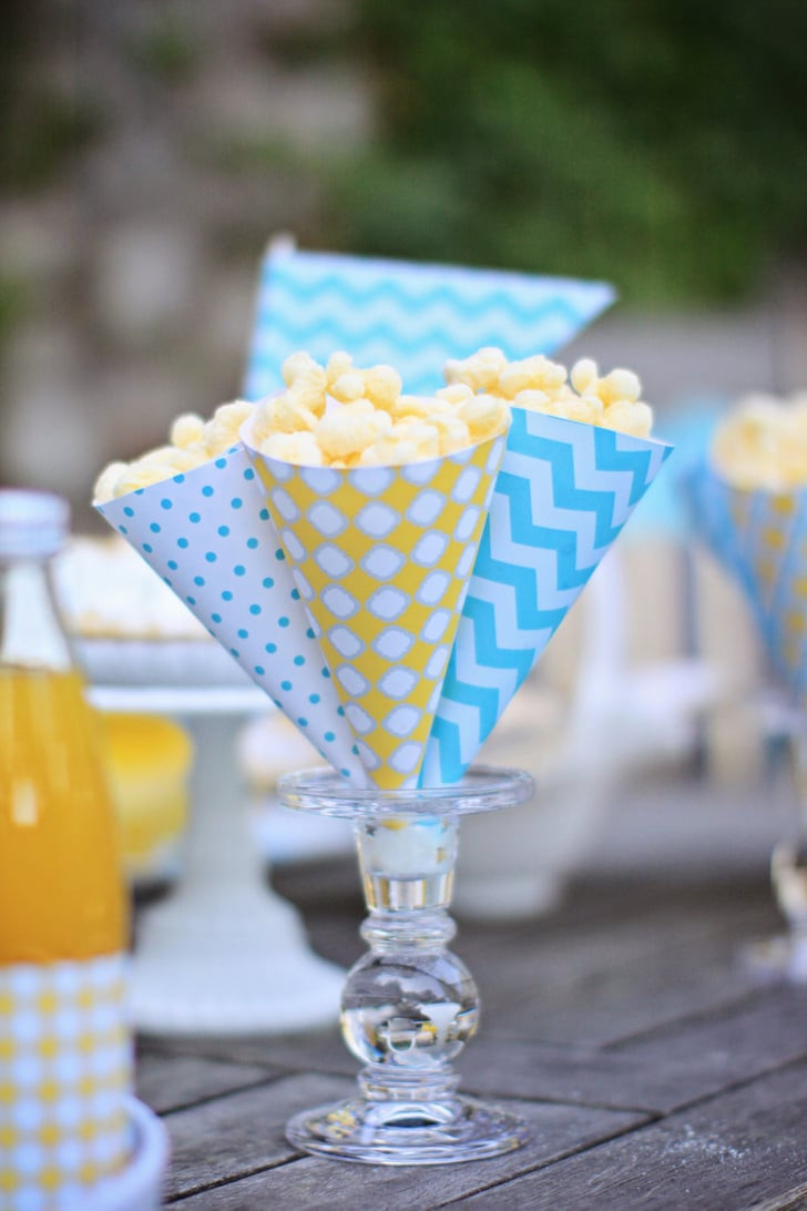 Cheap Pool Party Ideas  Popcorn Cones Cheap Pool Party Decorations