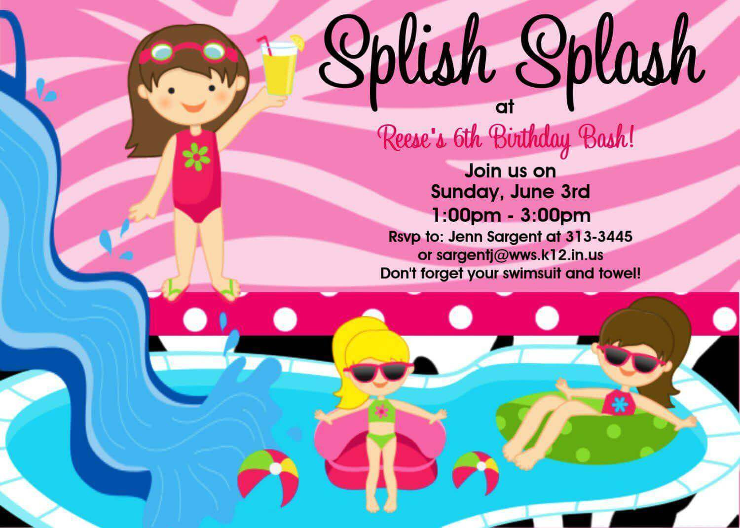 Cheap Pool Party Ideas  Cheap Pool Party Invitations Pool Party Invitation Ideas