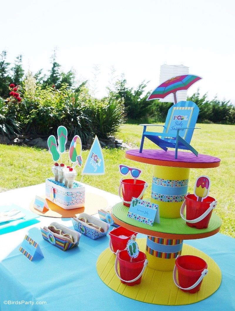 Cheap Pool Party Ideas  Pool Party Ideas & Kids Summer Printables Party Ideas