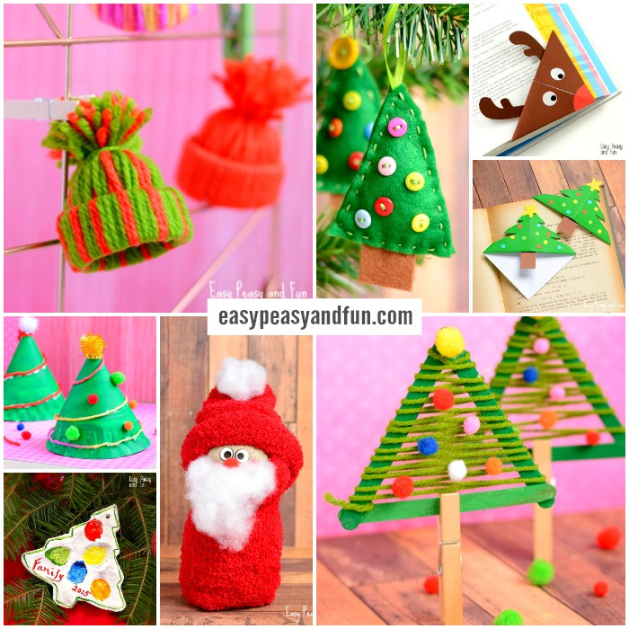 Christmas Craft Ideas For Kids  Festive Christmas Crafts for Kids Tons of Art and