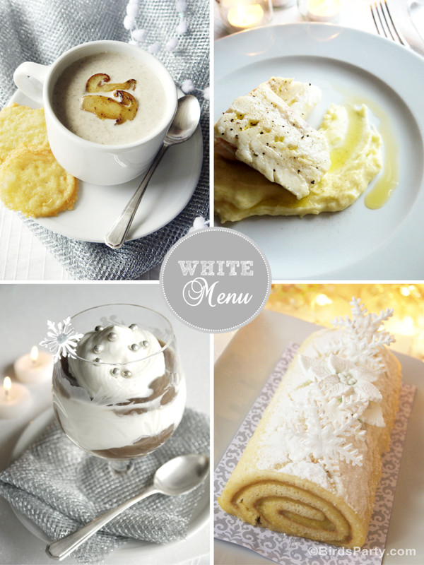 Christmas Dinner Party Menu Ideas  Monochromatic White Christmas Dinner Menu & Recipes