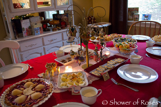 Christmas Dinner Party Menu Ideas  Shower of Roses Our Twelve Days of Christmas Dinner Party