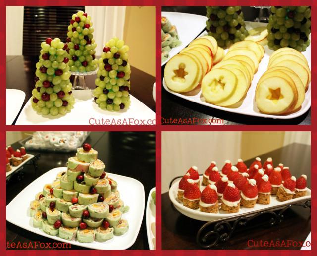 Christmas Dinner Party Menu Ideas  Light Pumpkin Dip in a Fresh Fruit Wreath