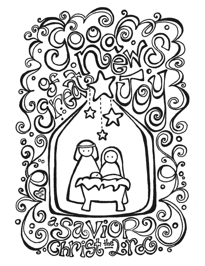 Christmas Nativity Coloring Pages  Free Nativity Coloring Page Coloring Activity Placemat