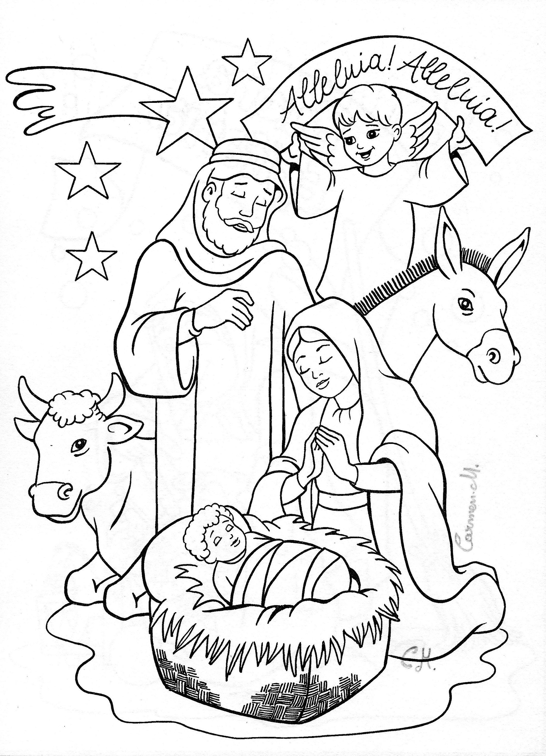 Christmas Nativity Coloring Pages  Nativity coloring page Coloring