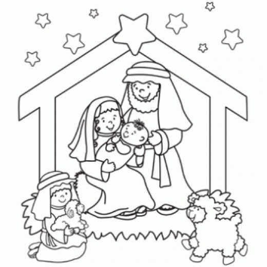 Christmas Nativity Coloring Pages  line Christmas Nativity Printables