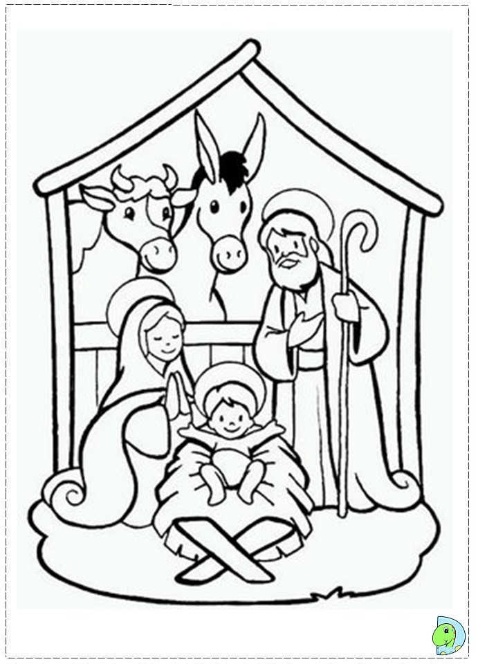 Christmas Nativity Coloring Pages  Nativity coloring page DinoKids
