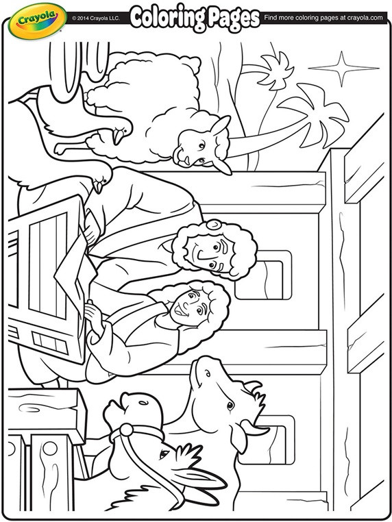 Christmas Nativity Coloring Pages  Nativity Manger Coloring Page
