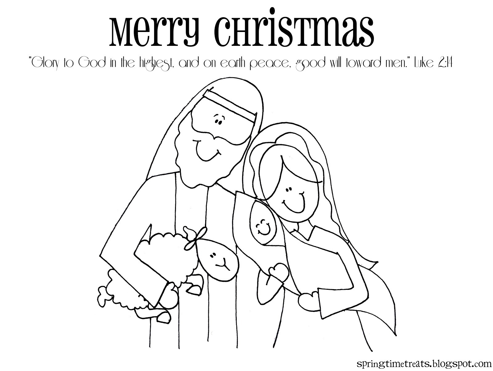 Christmas Nativity Coloring Pages  Spring Time Treats Christmas Nativity printable