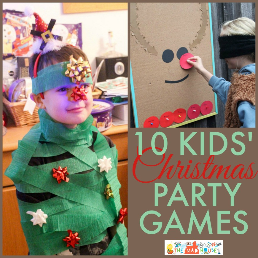 Christmas Party Activity Ideas  10 Fun Kids Christmas party games collage