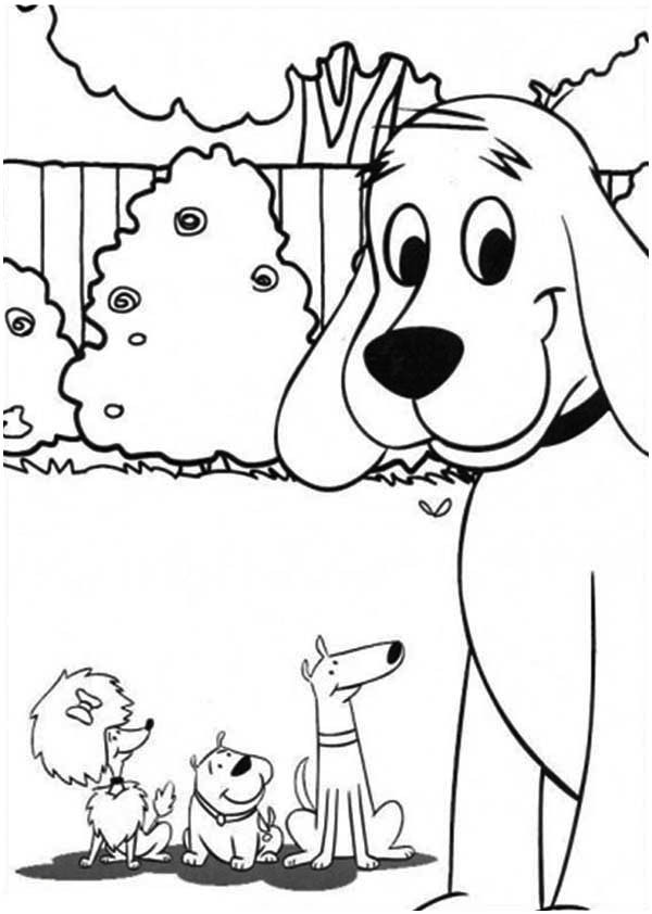 Clifford Coloring Pages  Clifford the Big Red Dog and Friends Coloring Page