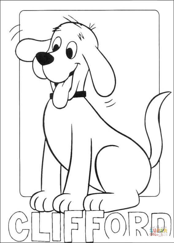 Clifford Coloring Pages  Picture Clifford coloring page