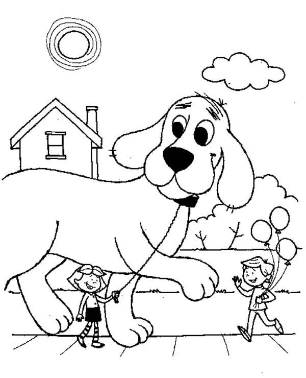 Clifford Coloring Pages  Coloring Pages Clifford The Big Red Dog Coloring Home