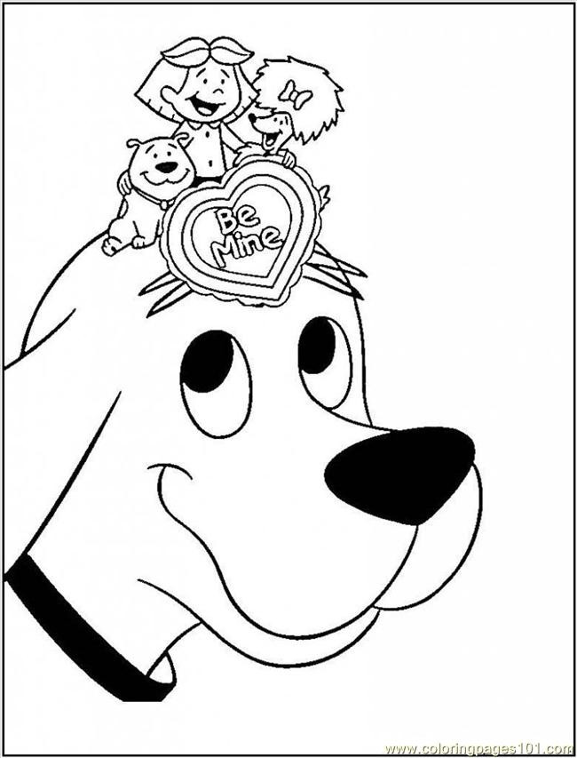 Clifford Coloring Pages  printable coloring page clifford big red dog cartoon