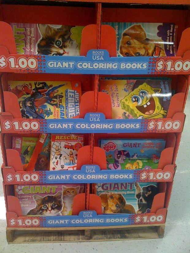 Coloring Books Walmart  Giant Floor Coloring Books $1 at Walmart Sponge Bob My