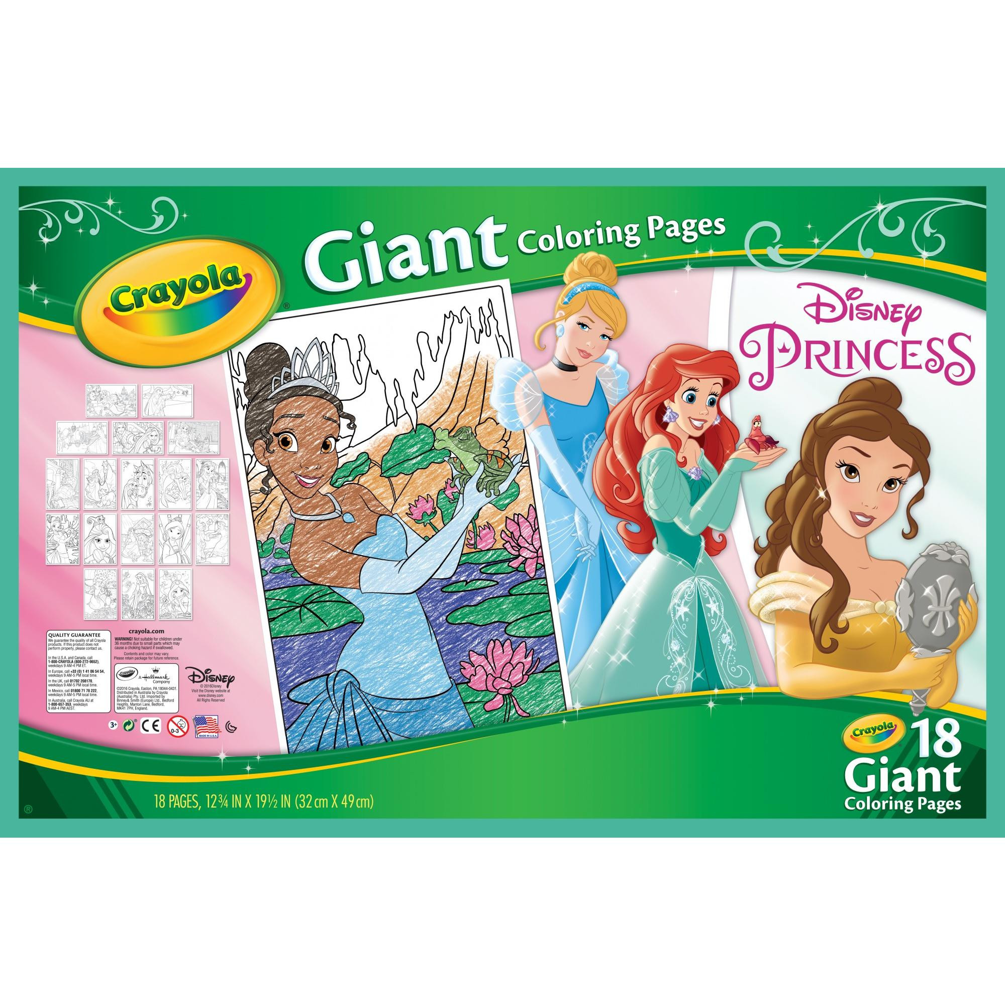 Coloring Books Walmart  Crayola Giant Coloring Pages Shopkins and Disney