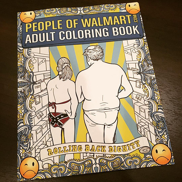 Coloring Books Walmart  People of Walmart Adult Coloring Book Now Available