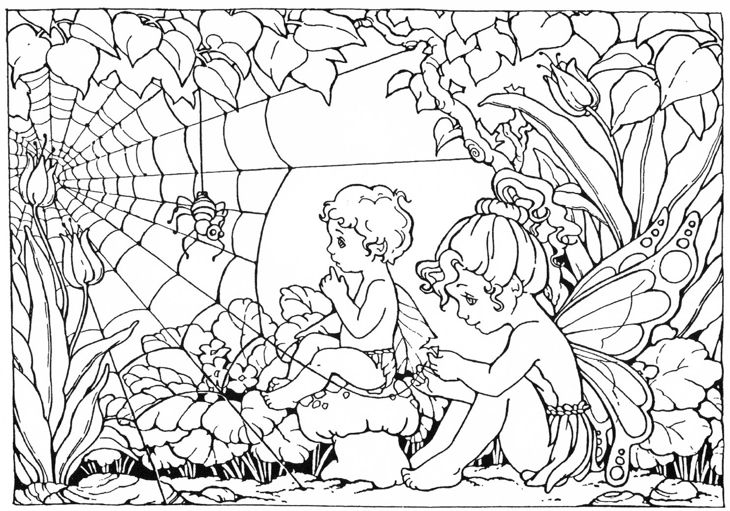 Coloring Pages For Adults Difficult Fairies  FAIRY COLORING PAGES
