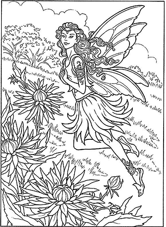 Coloring Pages For Adults Difficult Fairies  coloring pages for adults difficult fairies Google