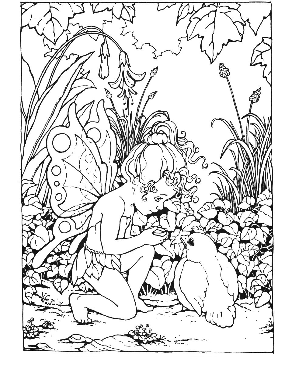 Coloring Pages For Adults Difficult Fairies  Free Printable Fairy Coloring Pages For Kids