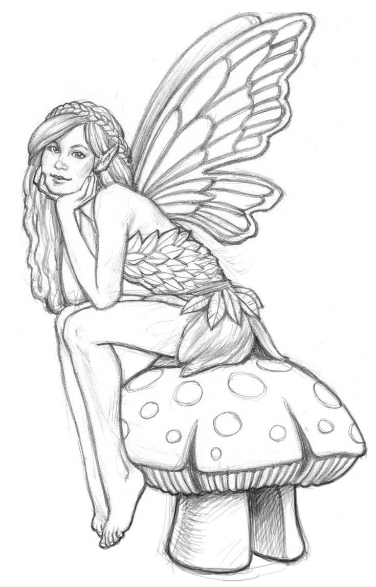 Coloring Pages For Adults Difficult Fairies  Fairy Coloring Pages on Pinterest